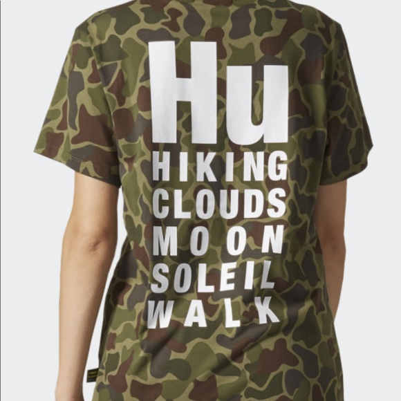 332780d4d4721 New Adidas Camo Pharrell Williams HU Hiking Shirt